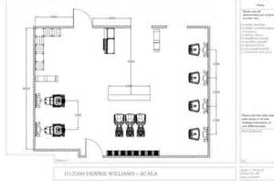 Small Hair Salon Floor Plans dennis williams hair amp beauty salon planning and fitting