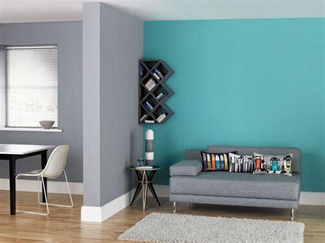 Supérieur Chambre Gris Blanc Bleu #3: peinture-murale-salon-salle-manger-bleu-turquoise-gris-perle.jpg