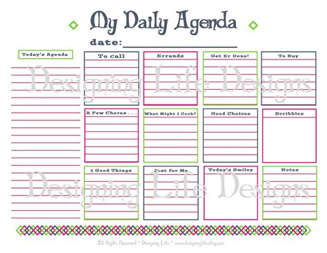 printable daily family schedule 8 best images of daily family schedule printables free