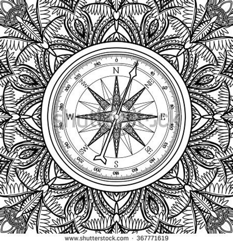 nautical coloring pages for adults left right brain tattoo art symbol stock vector 618263375