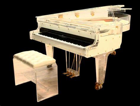 custom piano bench whitney houston s schimmel plexiglass custom piano tufted