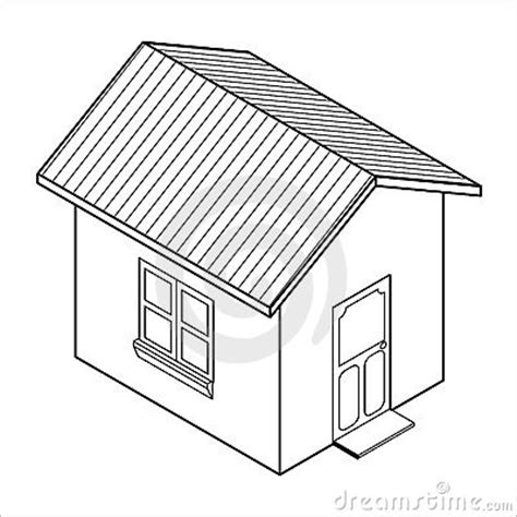 drawing with 3d house stock illustration image of vector 3d house icon vector royalty free stock image