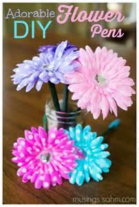 Diy flower pen crafts
