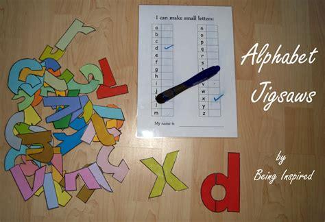 printable alphabet jigsaw preschool prep learning letters