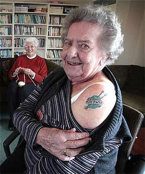 old lady with tattoos because are badass yarns