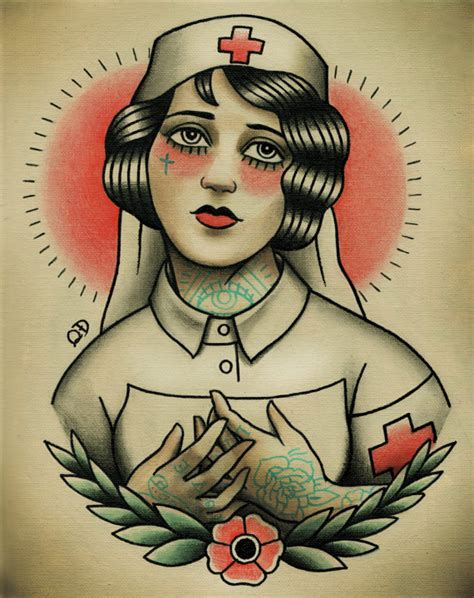tattoo old school nurse 21 traditional tattoo designs images and pictures