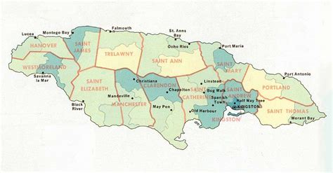map us jamaica maps of jamaica