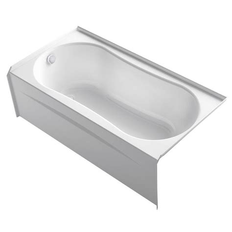 kohler soaking bathtubs kohler submerse 5 ft right drain soaking tub in white k