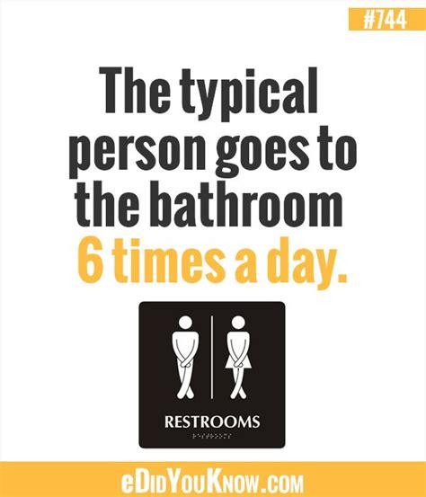 do you know where the bathroom is the typical person goes to the bathroom 6 times a day