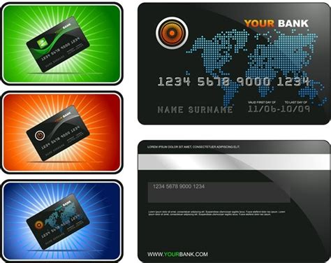 free bank card template bank card template vector free vector in adobe illustrator