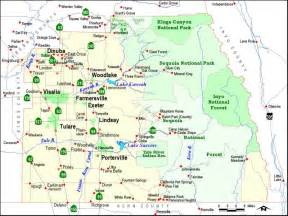 tulare county maps