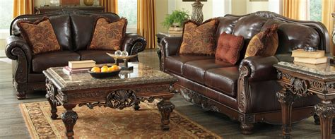 north shore dark brown sofa ashley north shore sofa table in dark brown t963 4