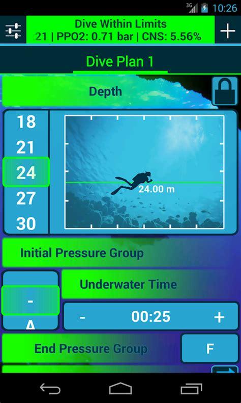 dive app dive planner android app scubaboard