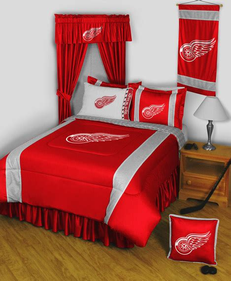 red wings comforter detroit red wings comforter and bedding set with accessories