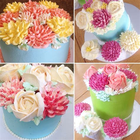 Cake Decorating Flowers Buttercream by Piped Buttercream Flower Cake