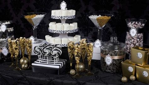 black and gold buffet ls black and gold candy buffet diy candy packages