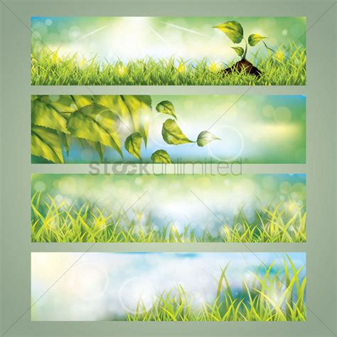 Banner Design For Nature | collection of nature banner designs vector image 1612326