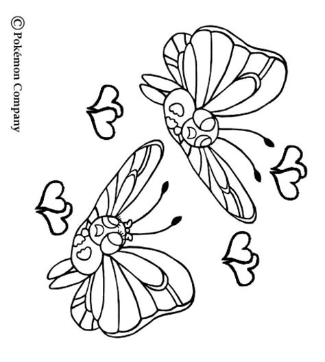 pokemon coloring pages butterfree butterfree coloring pages hellokids com