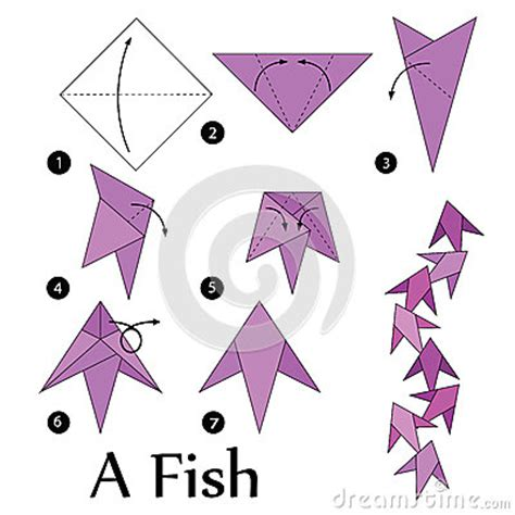 3d Origami Step By Step Illustrations - step by step how to make origami a fish