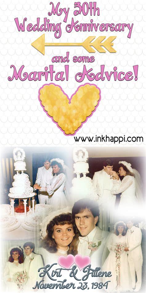 Wedding Anniversary Advice by My 30th Wedding Anniversary And Some Marital Advice