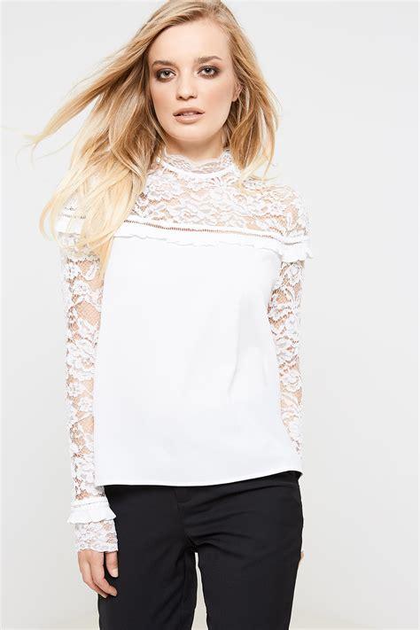 High Neck Lace Top fashion union ravi high neck lace top white ebay