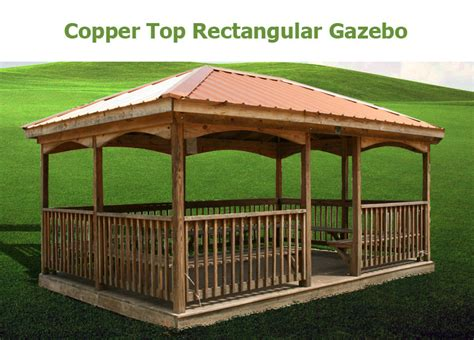 rectangular gazebo rectangular gazebos bunce buildings