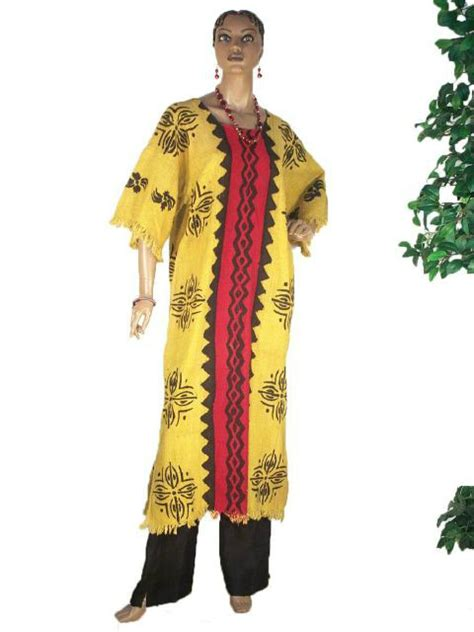 African Clothing Dress Red And Gold Mud Cloth | red and gold mud cloth bogolanfini dress dp0868