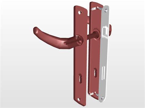 door handle  cad model library grabcad