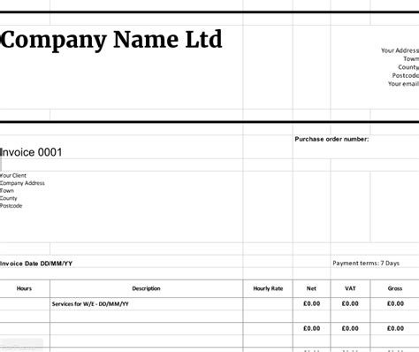 limited company invoice template free downloadable invoice templates cloudaccountant co uk