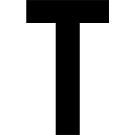 Black letter t icon - Free black letter icons T