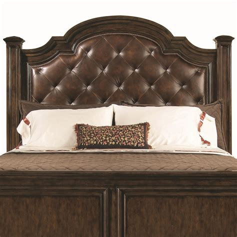 tufted leather headboards leather head board establishes a magnificent outlook for