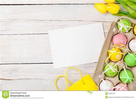 Handcrafters Northville - top view of colorful easter easter background with
