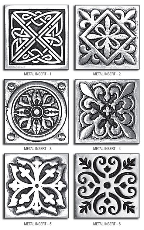 2x2 Metal Accent Tiles by Brown Kitchen Cabinets Backsplash Idea Backsplash