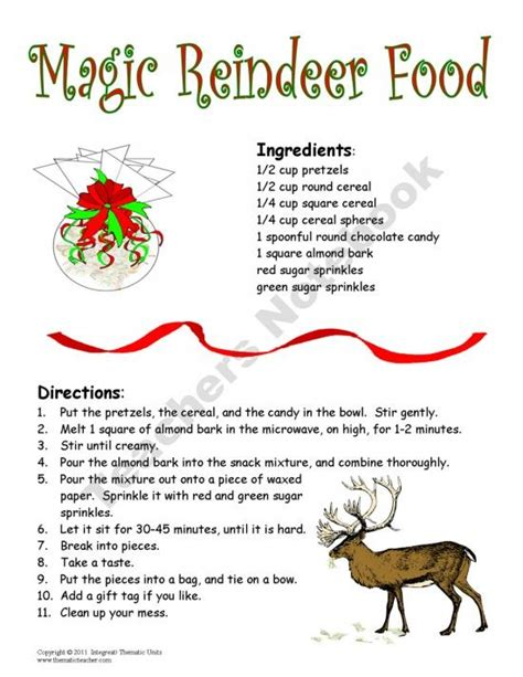 printable reindeer food directions pin by tiffany exline hoyt on winter pinterest