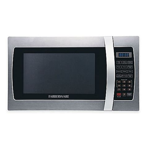 microwave bed bath and beyond farberware 174 pro 1 3 cubic foot microwave oven in stainless
