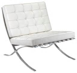 Modern White Leather Chairs » Home Design 2017