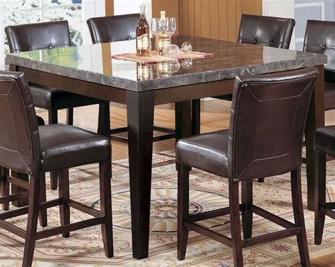 Acme Danville Marble Top Square Counter Height Dining Counter Height Marble Top Dining Table