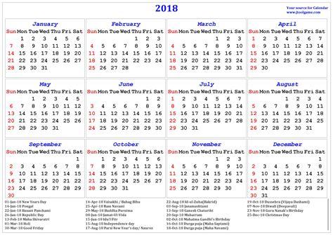 Calendar 2018 Wall India 2018 Calendar Printable Calendar 2018 Calendar In