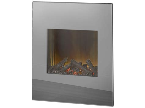 Mirrored Fireplace by Adam Wall Mounted Electric With Mirrored