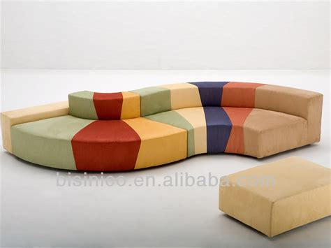 colorful s shaped sectional sofa modern free combination