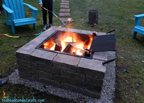 easy diy pit kit with grill can decorate