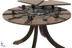 Expanding Table Mechanism by Self Expanding Round Table Autodesk Inventor 3d Cad