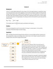 Lab Report Conclusion Template ib physics sl design lab