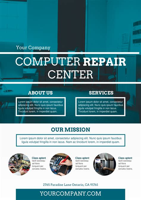 computer repair flyer template word gallery templates
