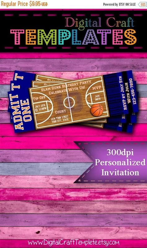 printable personalized tickets on sale personalized printable invitations sports party