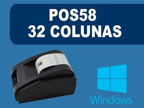Printer Thermal Qpos Q58m demonstra 231 227 o impressora t 233 rmica pmf usb doovi