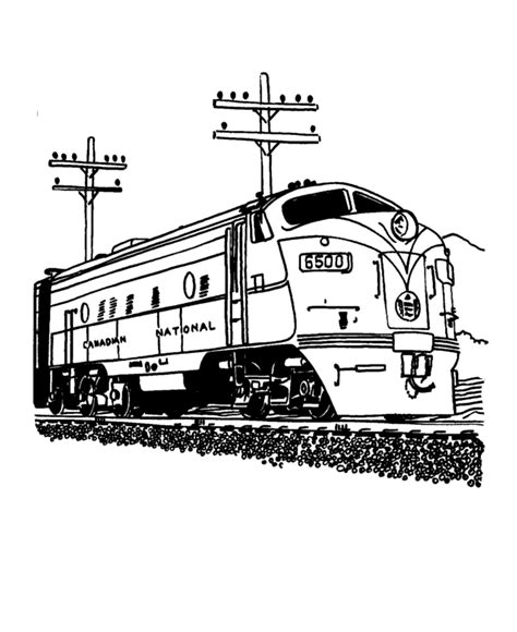 train and railroad coloring pages streamlined diesel