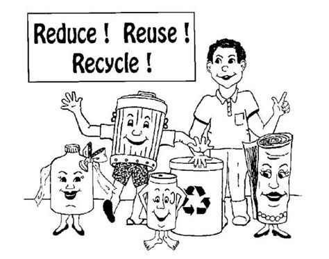 coloring pages for recycle reduce reuse reduce reuse and recycling coloring page coloring sky