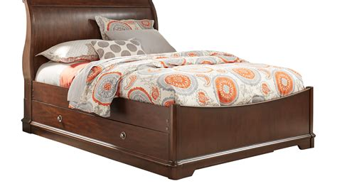 girls glam daybed dark cherry kids daybeds at hayneedle oberon cherry 4 pc twin sleigh bed with trundle