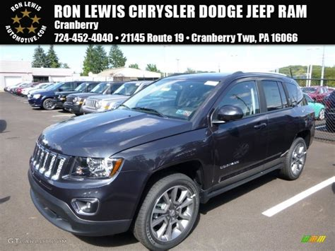 jeep compass 2016 black 2016 maximum steel metallic jeep compass high altitude 4x4